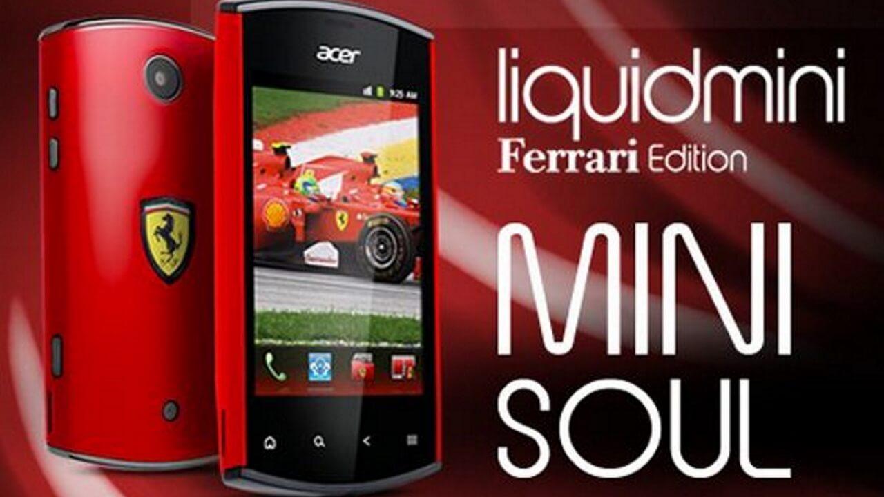 「Acer Liquid Mini Ferrari Edition」!