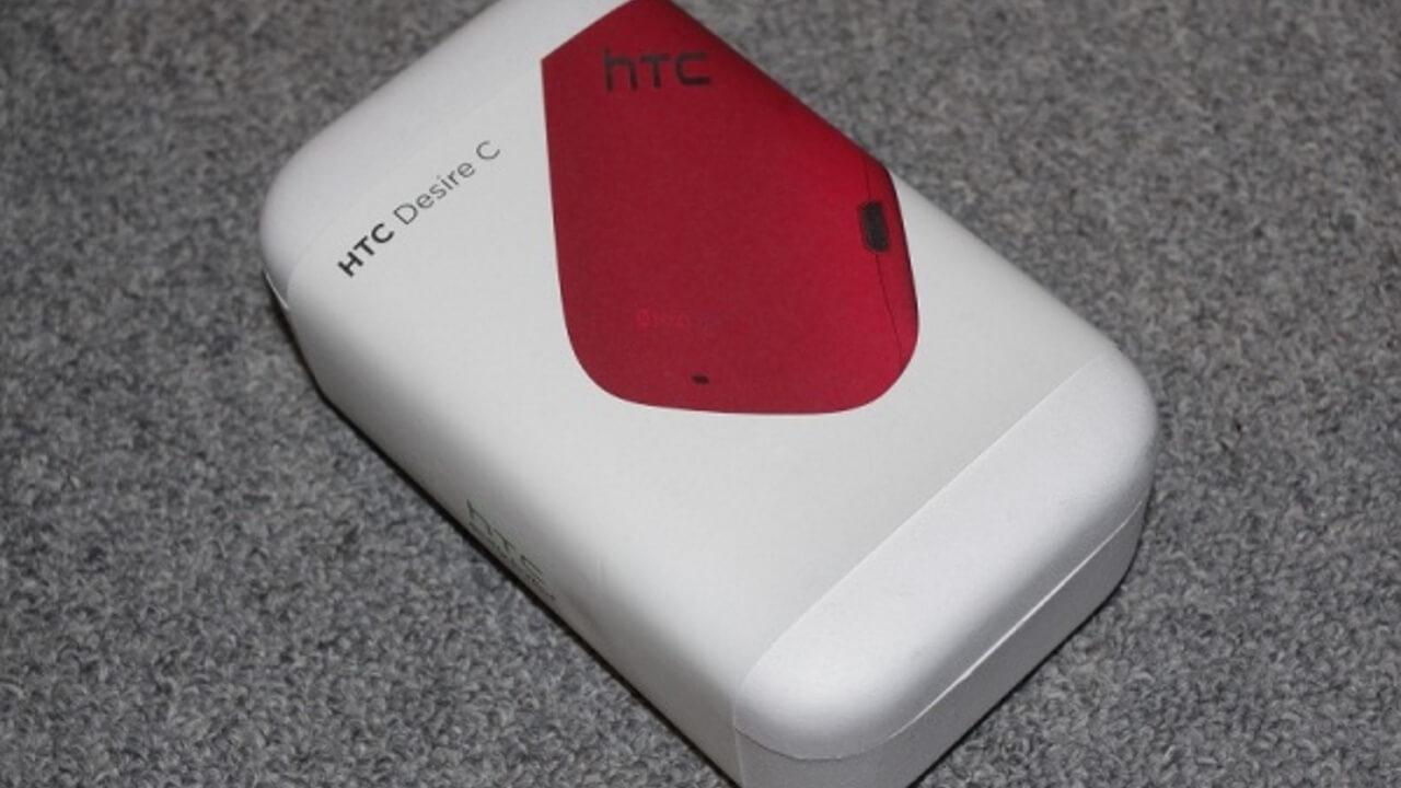 「HTC Desire C」レッドカラーが届きました