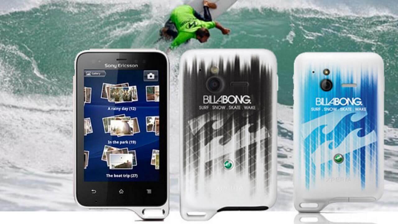 「Xperia Active Billabong Edition(ST17i)」のバッテリーカバーは3色