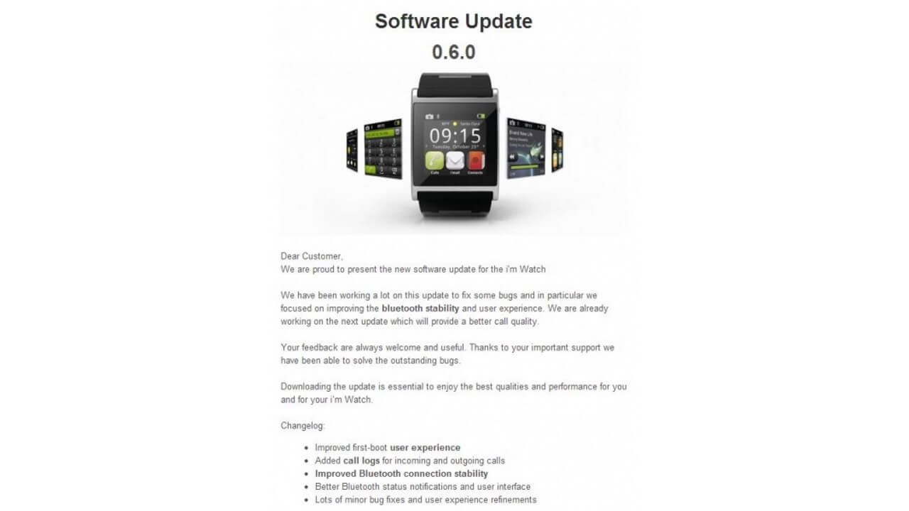 i'm Watchが0.6.0にアップデート