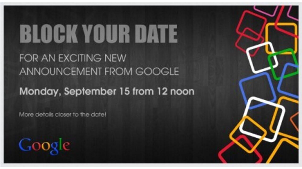 Google、9月15日にインドでAndroid Oneを発表?