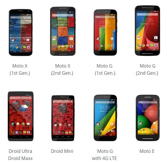 Motorola、Android 5.0(Lollipop)へのアップデート予定端末を発表