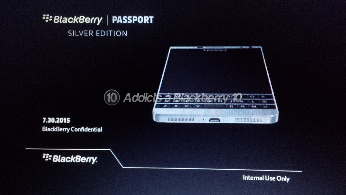 「BlackBerry Passport Silver Edition」の存在が明らかに