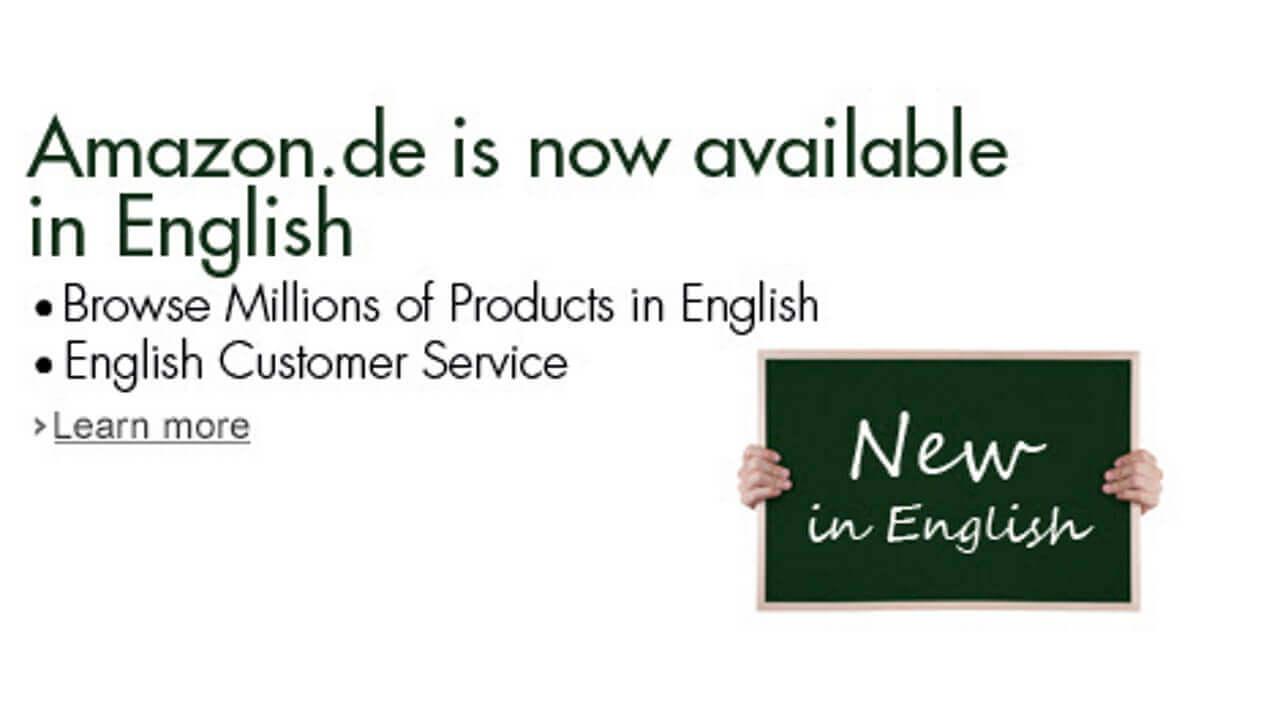 ドイツAmazon.deが英語に対応、表示だけでなくカスタマーサービスにおいても