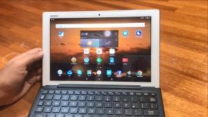 Android 7.0にアップデートした「Xperia Z4 Tablet」のアプリショートカット(BKB50)とスモールアプリのデモ