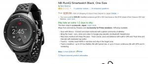 New BalanceのAndroid Wear「RunIQ」が米Amazon.comに入荷、39,500円前後で日本直送可能