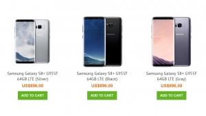 Exynos 8895 プロセッサ搭載「Galaxy S8+(SM-G955F)」が香港 Uniqbe で 3 色出揃う、そして大幅に値下がり