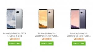 香港 Uniqbe に「Galaxy S8(SM-G950FD )」と「Galaxy S8+(SM-G955F  / G955FD)」が入荷