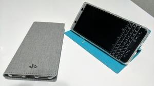 薄くて良い「BlackBerry KEYone」用Feitenn手帳型ケース【レビュー】