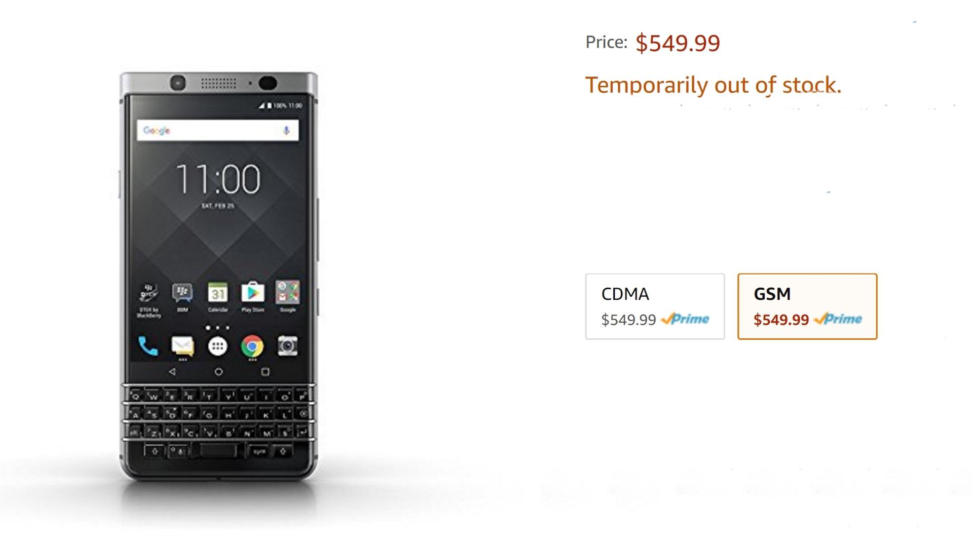 「BlackBerry KEYone」の在庫切れは需要過多のため、TCL CEOが釈明