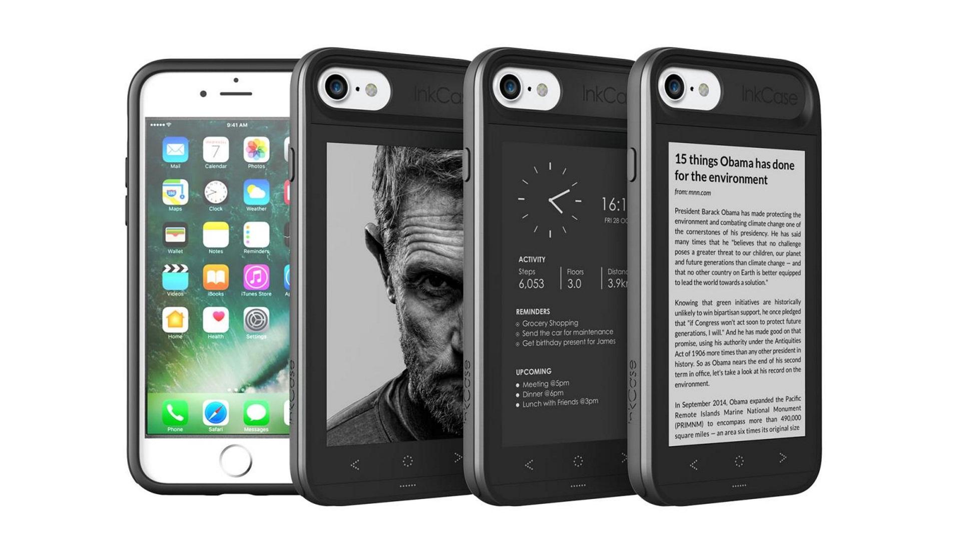 E-Inkセカンドディスプレイ搭載ケース「InkCase for iPhone 7」発売!