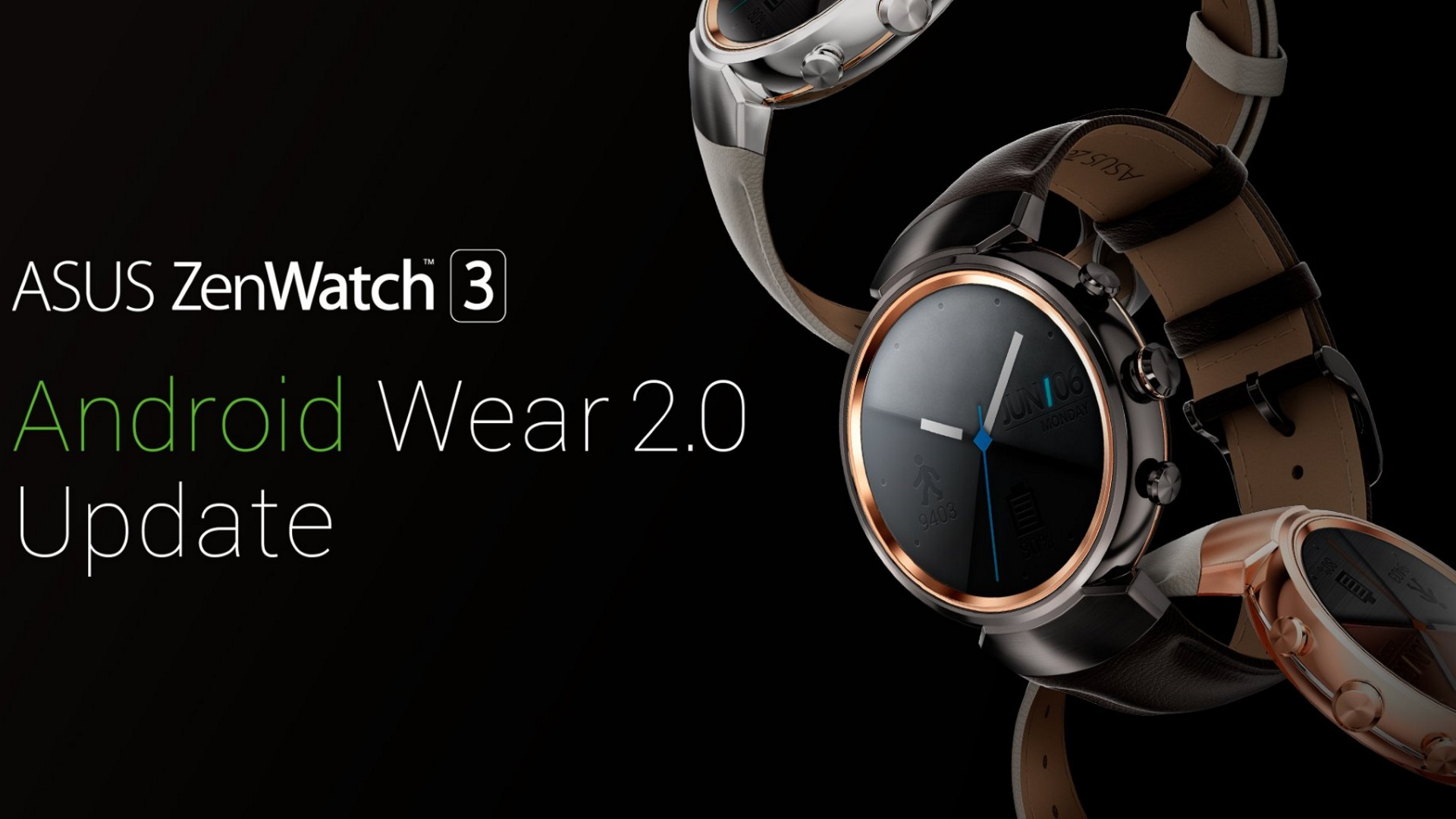 ASUS、「ZenWatch 3」Android Wear 2.0アップデート開始を正式発表【追記】