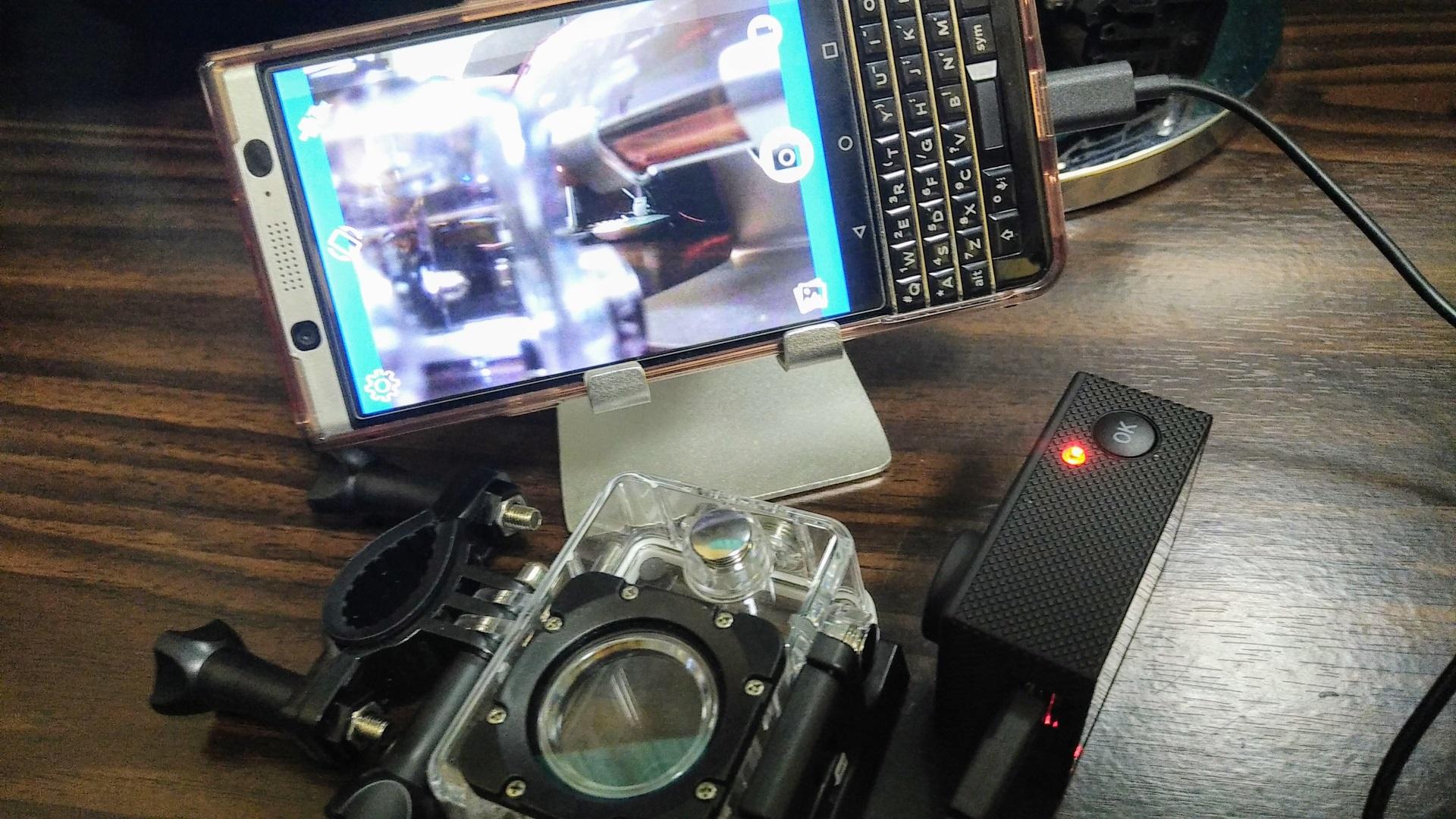 「アクティブギア フルHDカメラ」をUSBカメラとして「KEYone」に接続して利用する方法【レポート】