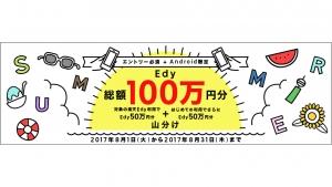 Android限定「楽天Edy」最大200円プレゼント「2017夏のWチャンス!キャンペーン」開催中