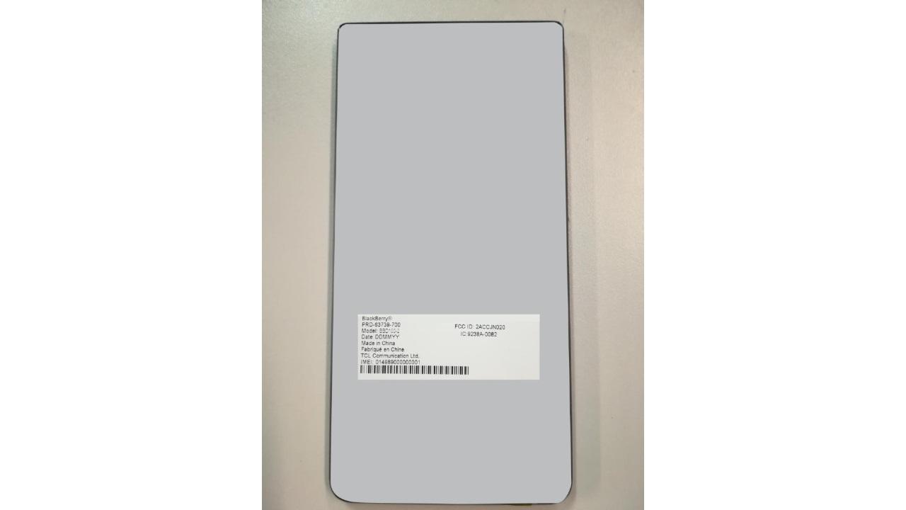 BlackBerryの未発表型番「BBD100-2」がFCC認証を取得