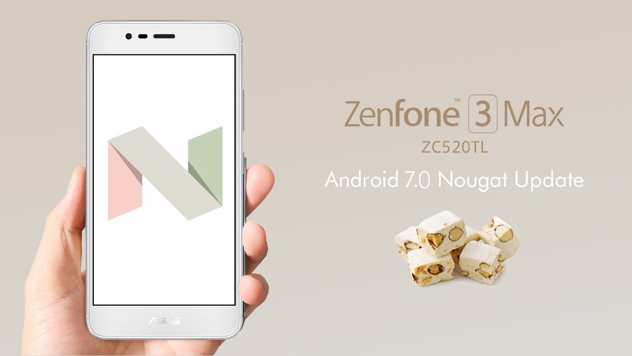 「ZenFone 3 Max(ZC520TL)」にAndroid 7.0 Nougatアップデートが配信、au VoLTEをサポート