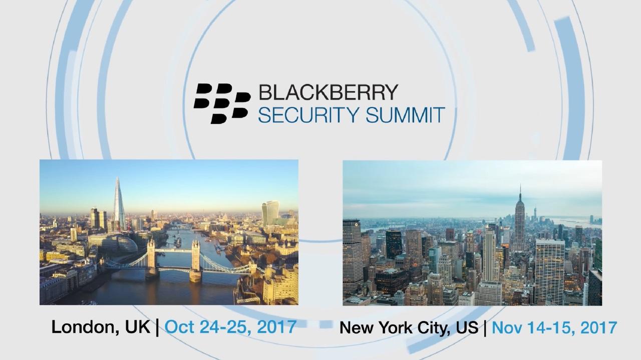 BlackBerry、10月24日にロンドンでセキュリティサミットを開催