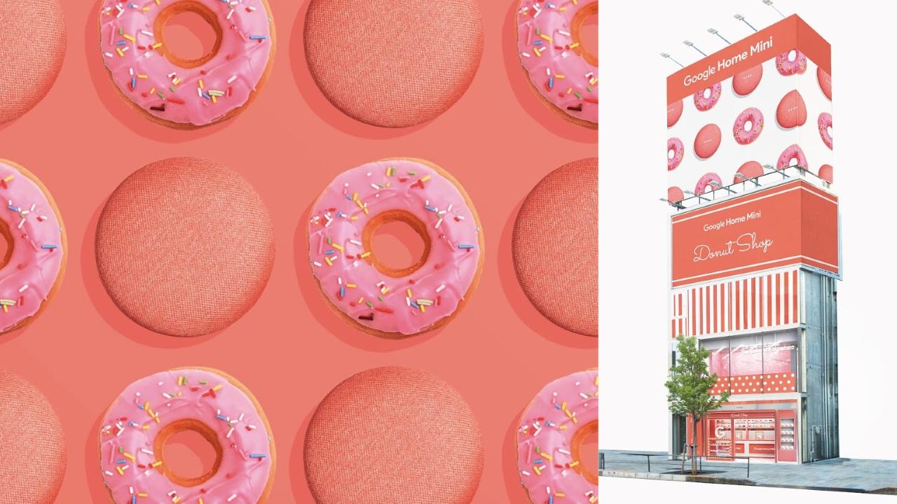 「Google Home Mini」発売を記念したドーナツショップが表参道にオープン