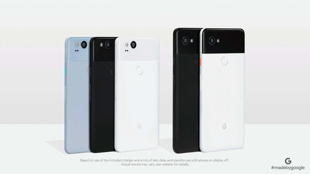 Google、eSIM採用の新型スマートフォン「Pixel 2/2 XL」を発表
