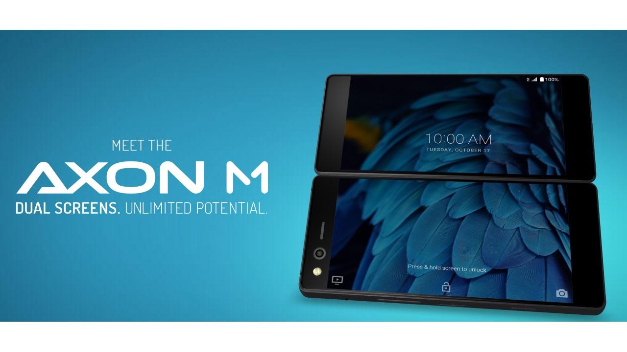 折り畳み式デュアルスクリーンスマートフォン「ZTE Axon M」発表