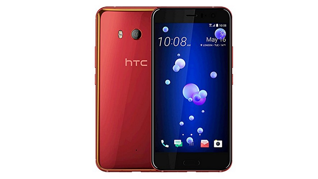 「HTC U11」国内向けSIMフリー版ソーラーレッド2018年2月以降に発売予定、おサイフケータイもサポート