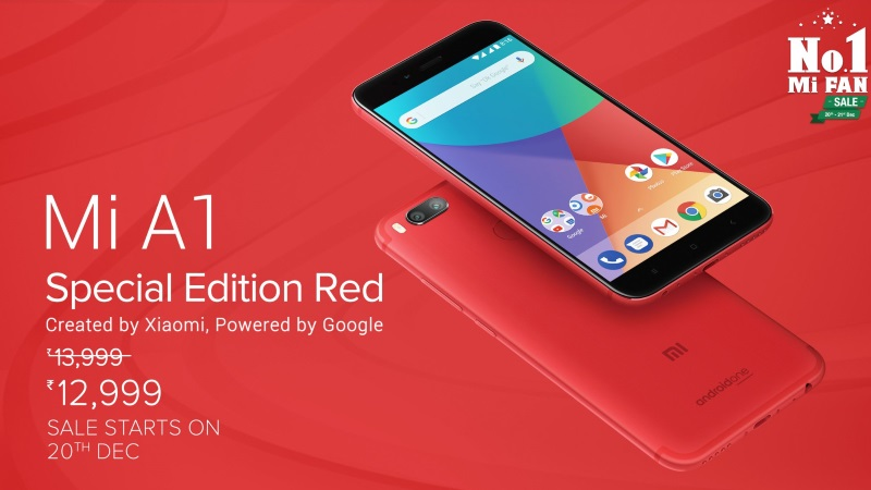 Android One「Xiaomi Mi A1」にレッドカラーが追加