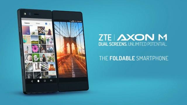 折り畳み式デュアルスクリーンスマートフォン「ZTE Axon M」のプロモ動画