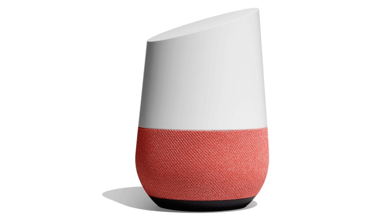 Googleストアに「Google Home のベース」ファブリック/コーラルが入荷