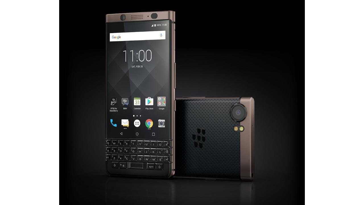デュアルSIM「BlackBerry KEYone Bronze Edition」正式発表【CES 2018】