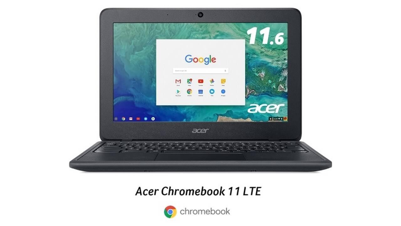 日本エイサー、LTE対応「Chromebook 11 LTE」を6月28日に発売