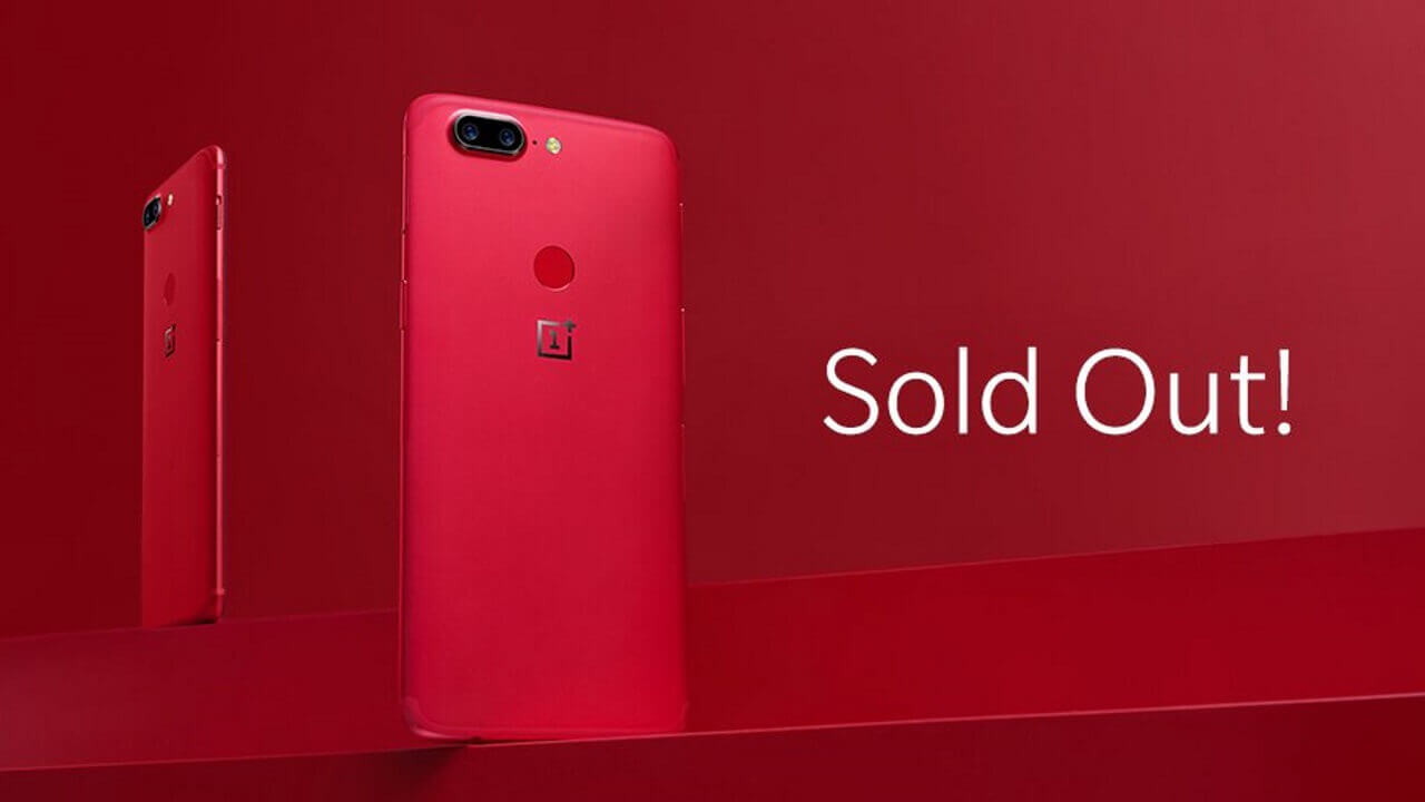 「OnePlus 5T」Lava Redが一部地域で完売