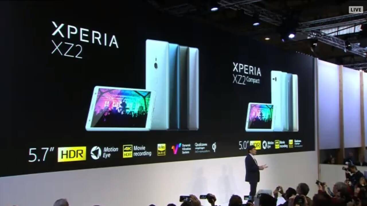 Sony Mobile、Snapdragon 845プロセッサ搭載「Xperia XZ2/XZ2 Compact」を発表【MWC 2018】