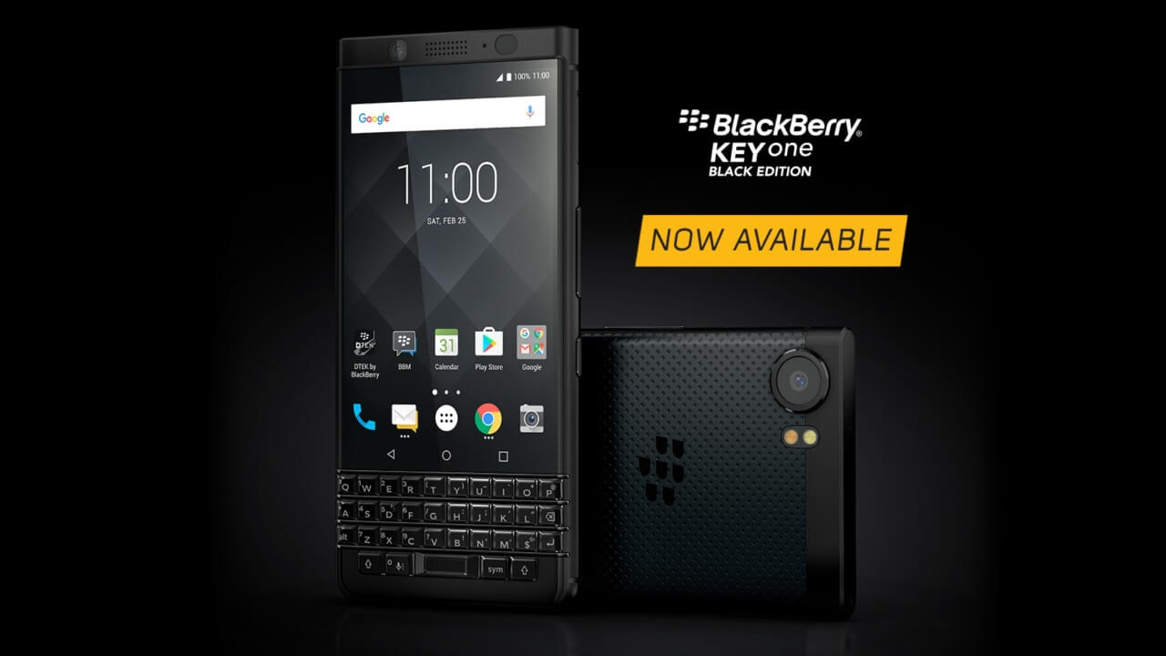 米国で「BlackBerry KEYone BLACK EDITION」が発売