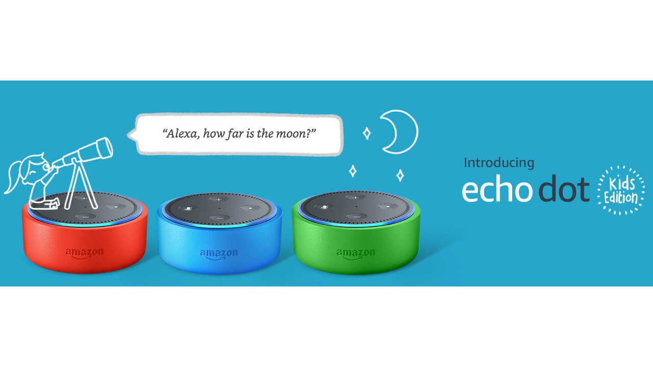 Amazon、子供用「Echo Dot Kids Edition」を発表