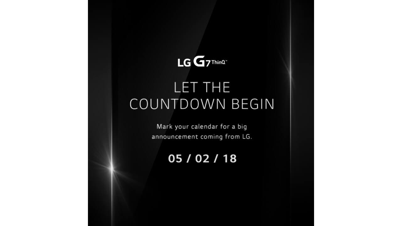 LG、「LG G7 ThinQ」を5月2日にニューヨークで発表