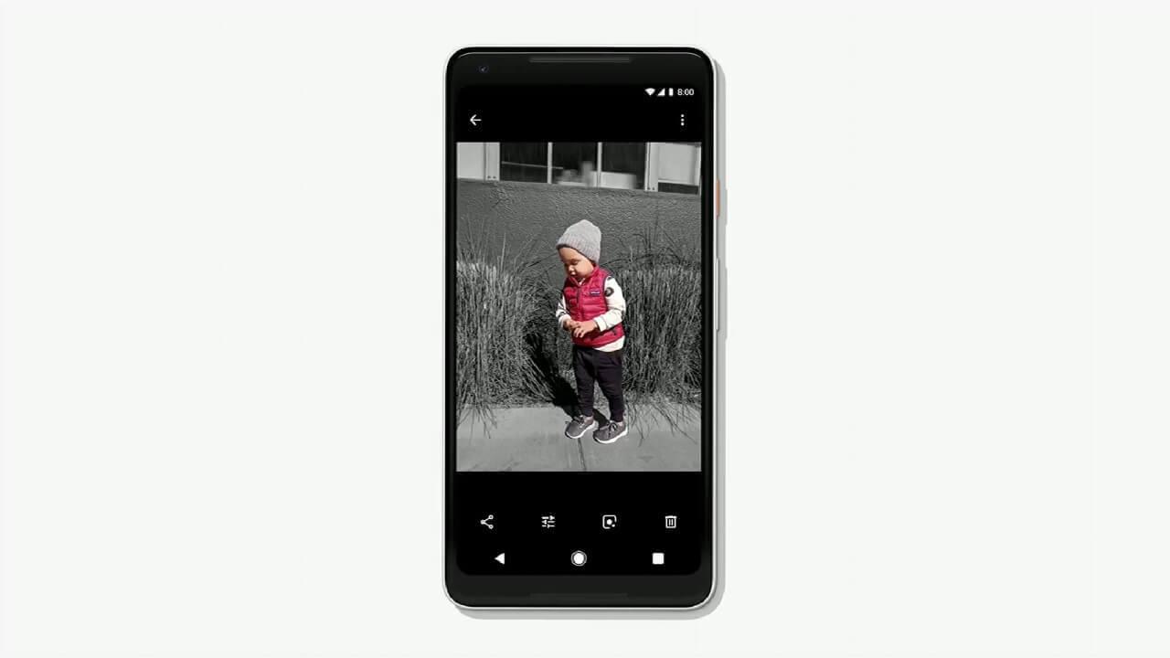 「Google フォト」のモノクロ写真のカラー復元や一部モノクロ化機能などを追加【Google I/O 2018】