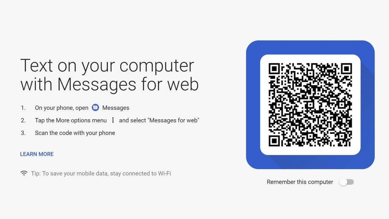 WEB版「Android メッセージ」提供開始、その他新機能