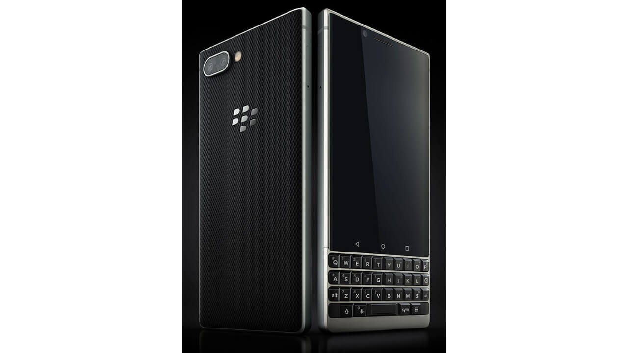 全体を確認できる「BlackBerry KEY2」のプレス画像が流出、よりPassport SEっぽくなった