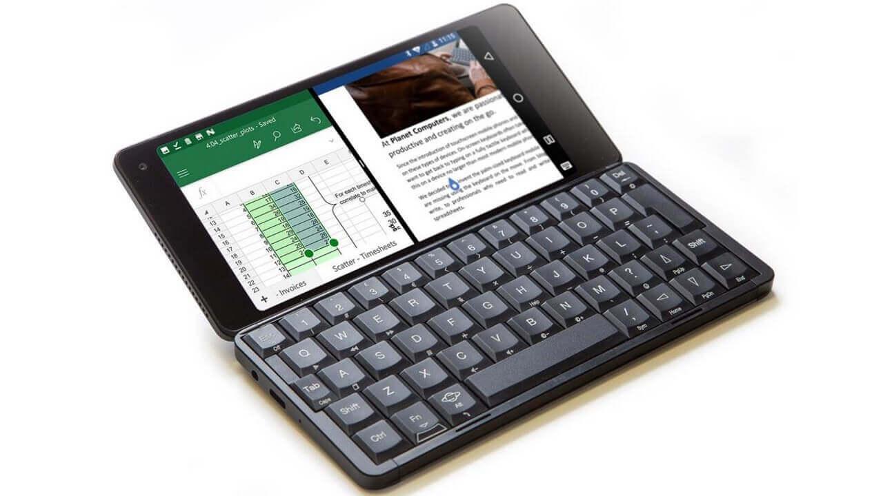 クラムシェル型Android「Gemini PDA」、12月23日国内発売