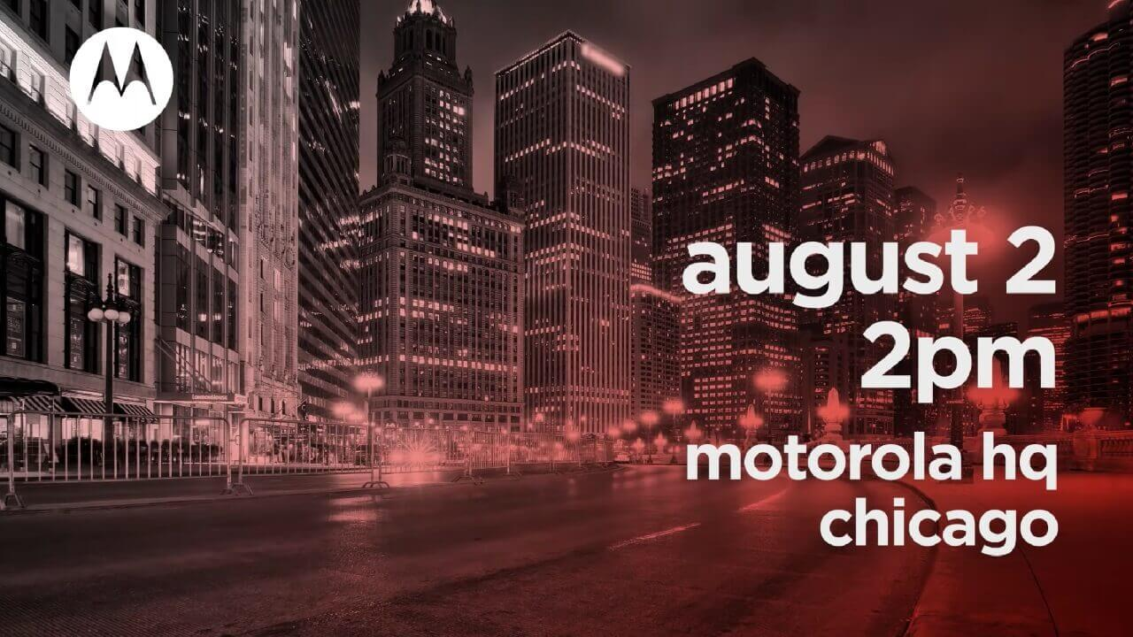 Motorola、8月2日にシカゴで新製品発表へ