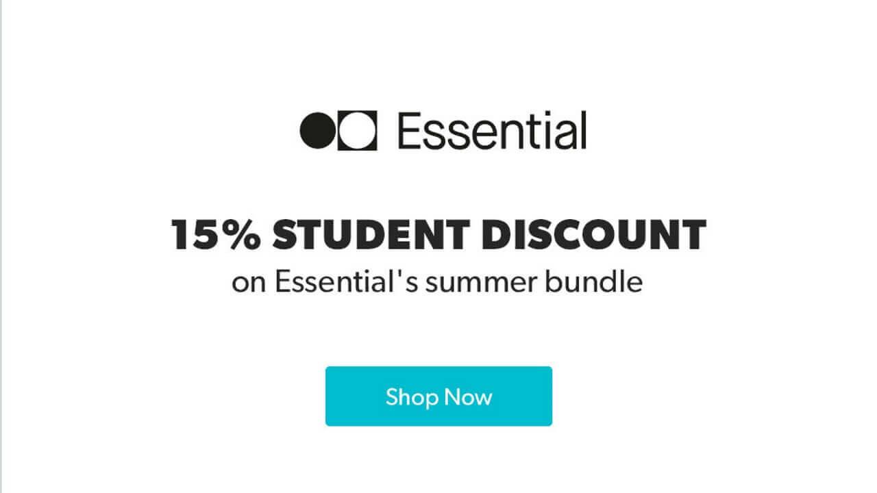 「Essential Phone」360 Camera+Earphones HDセットが学割で更に15%引き