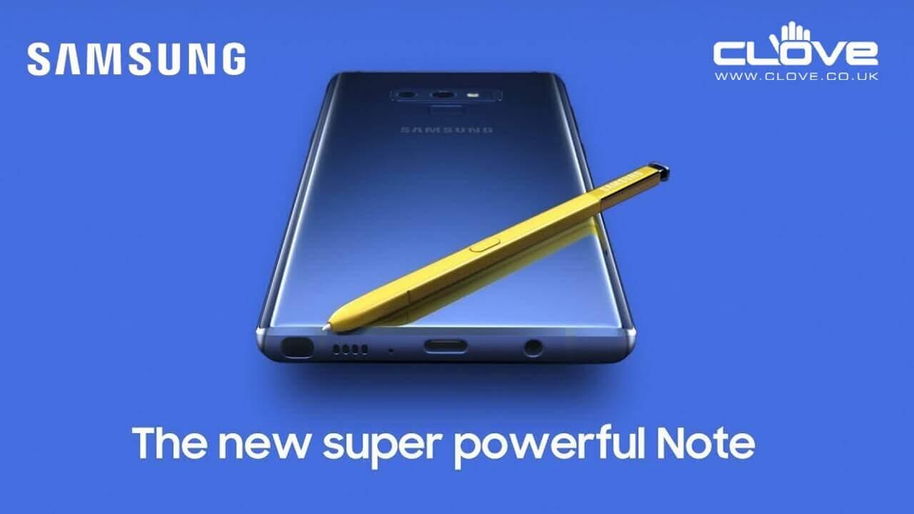 Cloveに「Galaxy Note9」が入荷、まずはブラックカラーから