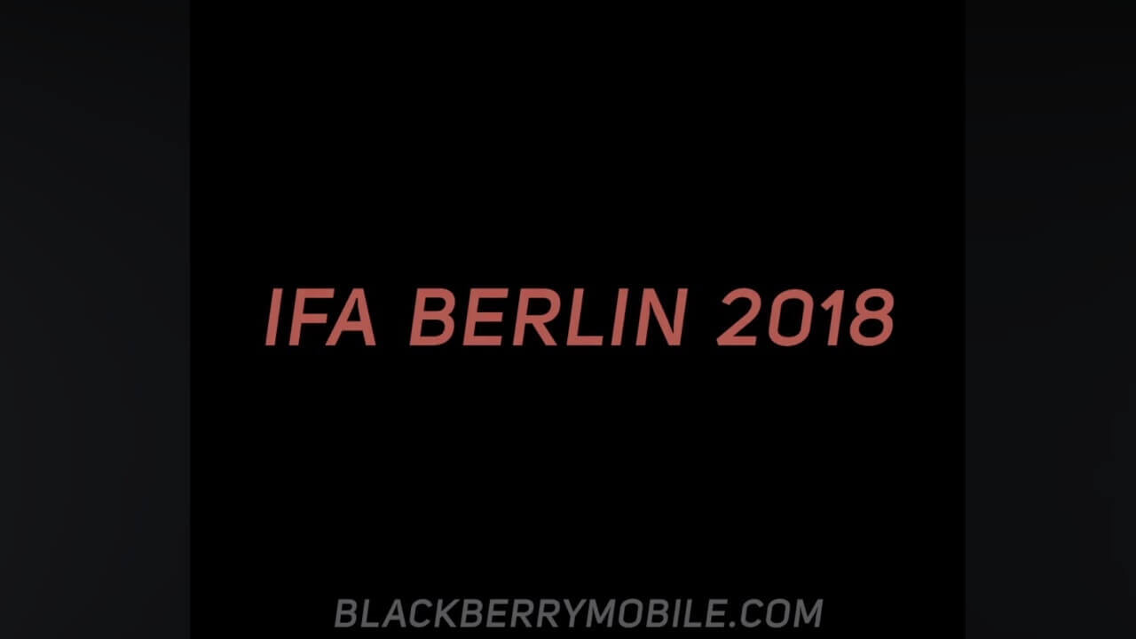 BlackBerryがIFA 2018に向けたティザーで「BlackBerry KEY2 LE」の背面を公開?