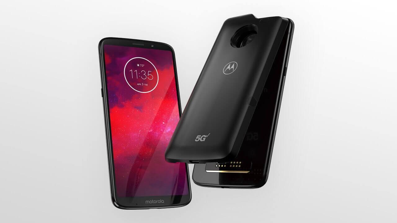 Motorola、5Gモッド対応「Moto Z3」発表
