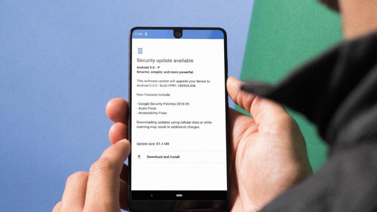 「Essential Phone」にオーディオ機能などの修正を含むセキュリティアップデートが配信