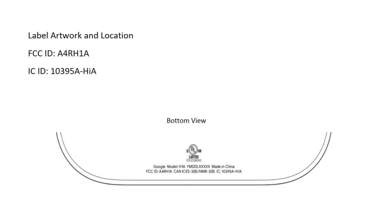 多分「Google Home Hub」がFCCの認証を取得