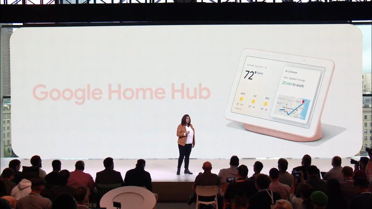 カメラ非搭載の7インチホームデバイス「Google Home Hub」正式発表