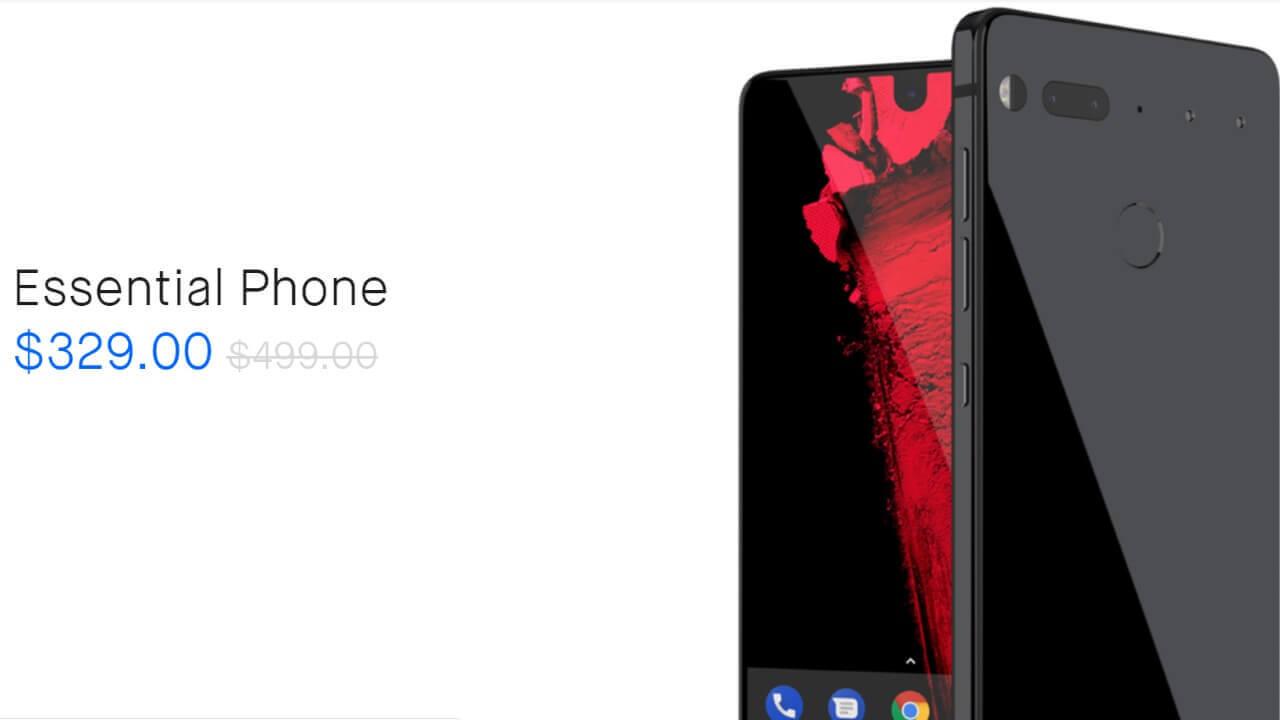 「Essential Phone」15時間限定サイバーマンデーセール開始
