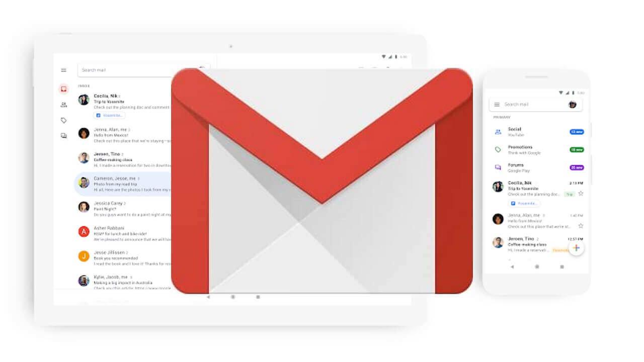 Google、「Gmail」の新マテリアルデザインアップデートを発表