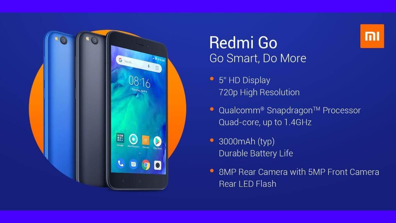 Xiaomi、Android Go Editionスマートフォン「Redmi Go」発表